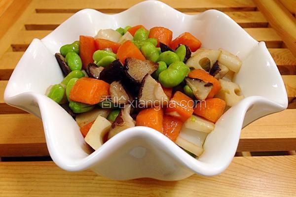 三丁炒蘑菇