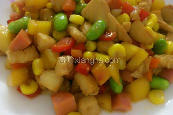水果蔬菜鸡肉丁