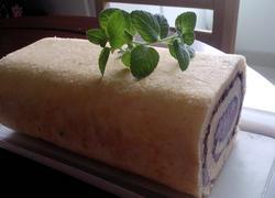 双层蓝莓蜜豆蛋糕卷