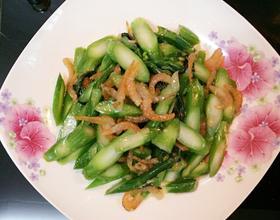 虾米炒芥兰