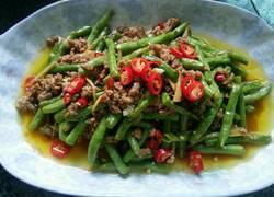 肉沫焖豇豆