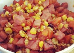 火腿胡萝卜玉米粒
