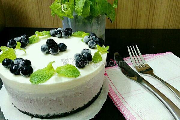 蓝莓渐变冻芝士蛋糕