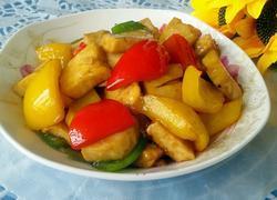彩椒蚝油豆腐
