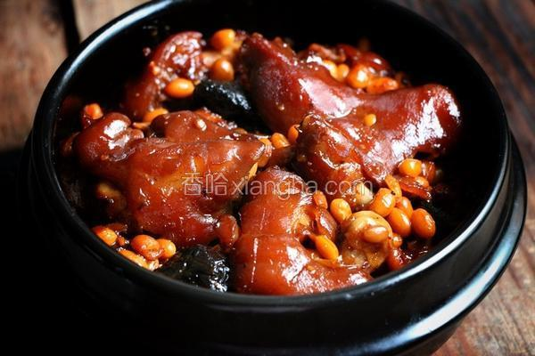 黄豆焖猪脚