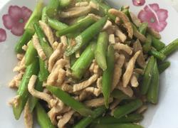 芦笋炒鸡肉丝