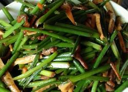 韭菜花炒香干肉丝