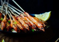 孜然串烤虾