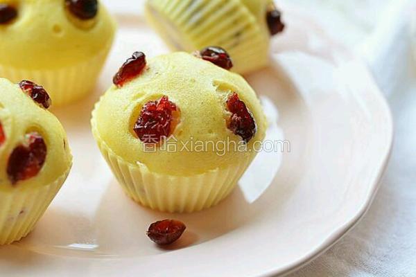 蔓越莓蒸蛋糕
