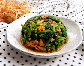 核桃仁拌菠菜[图]