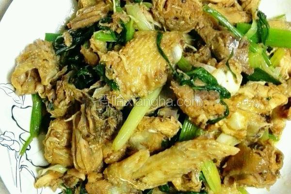 芹菜炒鸡肉