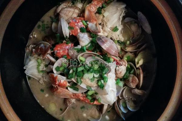 海蟹蛤蜊杂煲