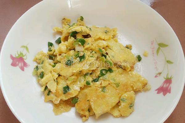 葱花煎鸡蛋