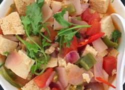西红杮炖冻豆腐