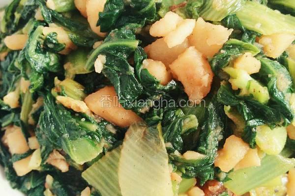 腌猪肉烩小白菜