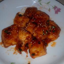 花生酱汁豆腐干