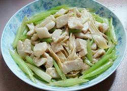 芹菜腐竹肉片