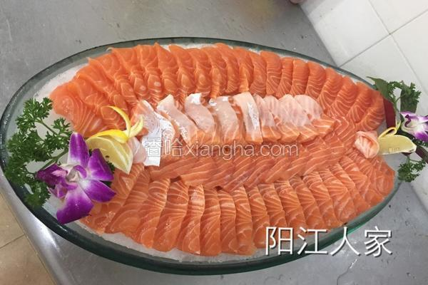 刺身挪威三文鱼