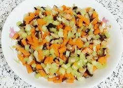 芹菜胡萝卜香菇丁