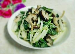 冬菇炒小白菜