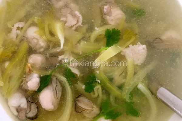 生蠔酸菜汤