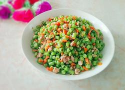 肉末胡萝卜炒豆丁
