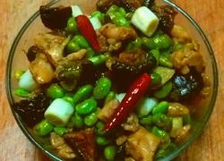 香菇毛豆烩鸡丁
