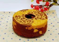 長頸鹿紋戚風蛋糕
