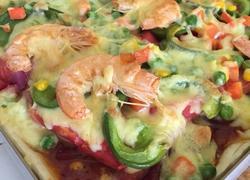 鲜虾蔬菜披萨(随意版)