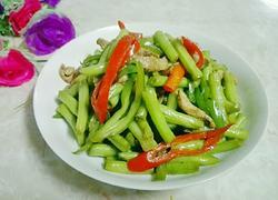 辣椒瘦肉炒豆角
