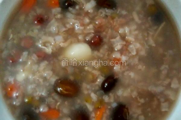 百合三豆粥