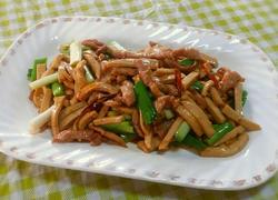 私房菜:素鸡炒肉丝