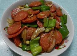 青椒炒香肠