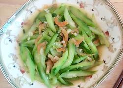 蒜蓉虾仁炒丝瓜
