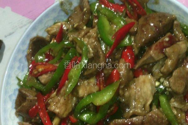 双椒炒瘦肉猪肝