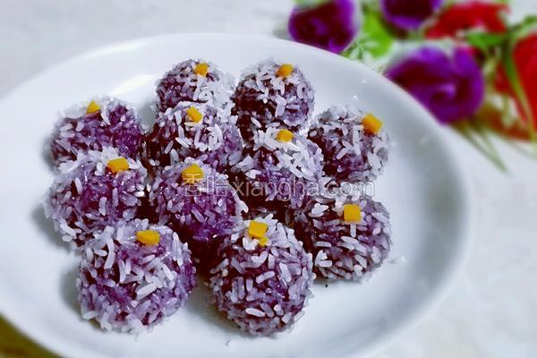 紫薯糯米丸子
