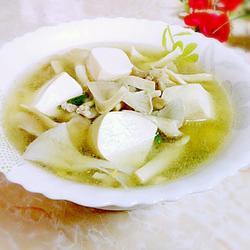 袖珍菇白豆腐湯的做法[圖]