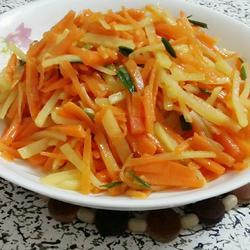 香蔥胡蘿卜土豆絲的做法[圖]