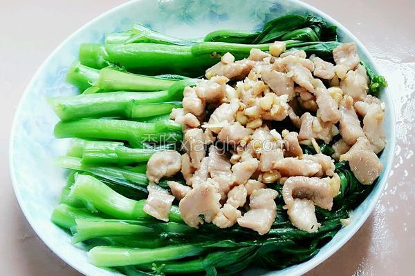 蒜蓉菜心肉片