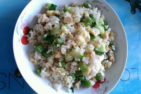 三丁玉米香肠炒饭