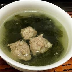螺旋藻肉丸汤的做法[图]