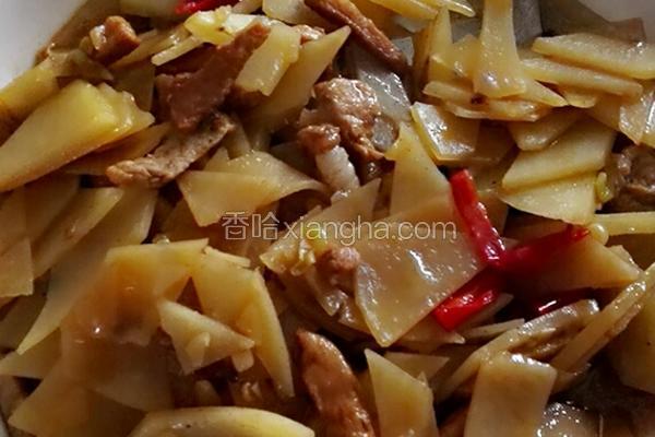 家常土豆片炒肉