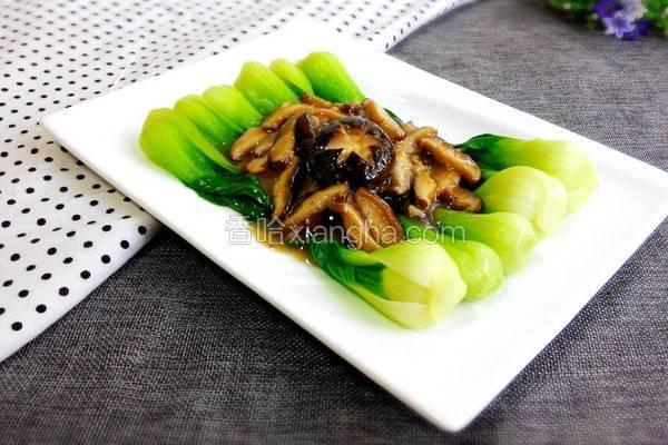 香菇扒油菜