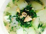 冬瓜乌贼菠菜烩的做法[图]