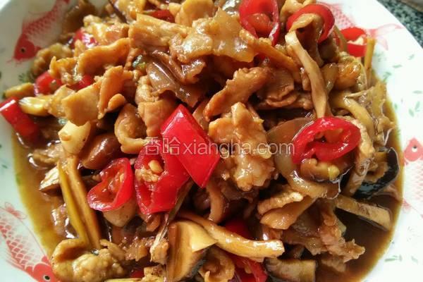 蚝油香菇炒肉