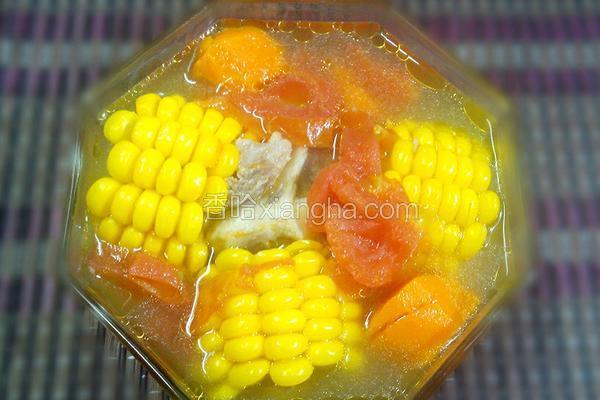 双红玉米骨头汤