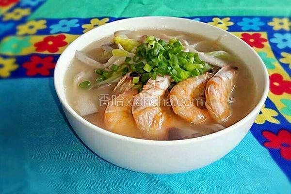 虾干蘑菇汤