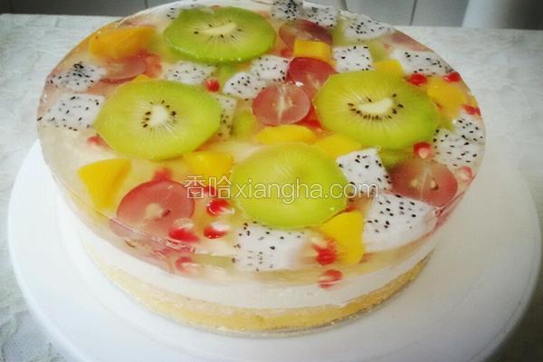 杂果水晶慕斯蛋糕