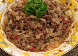 酸笋芹菜牛肉末