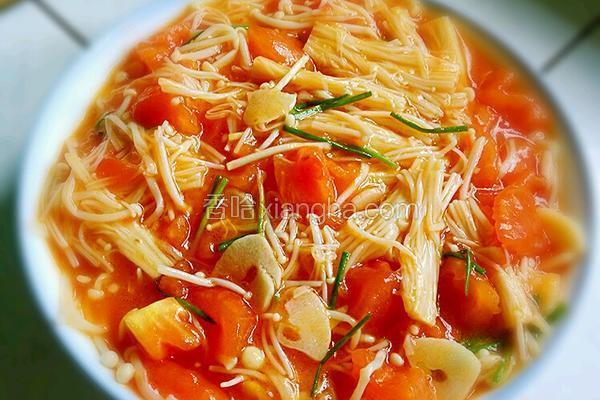 金针菇炒西红柿